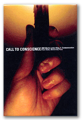 "Button: Theme: ""Call To Conscience"" Designer: Peter Sucheski"