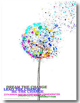 "Button: Theme: ""Dream the Change, Lead the Change, Be the Change."" Designer: Lauren Barry"